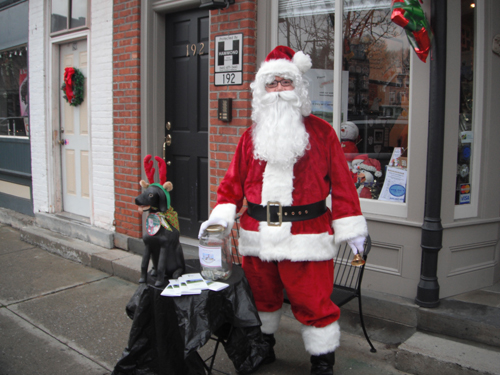 Santa helps raise funds and brings holiday cheer